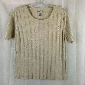 Jacqueline Ferrar silk short sleeve  top